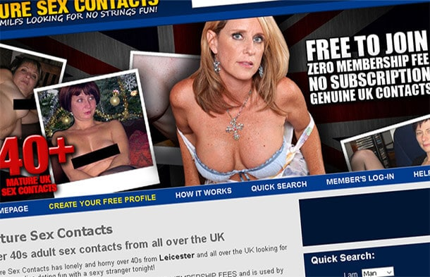 Mature Sex Contacts, Casual UK Adult Dating